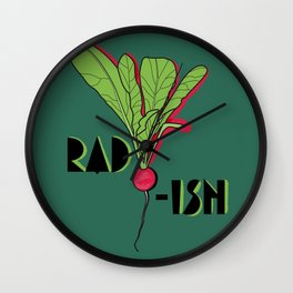 Super Rad Radish Wall Clock