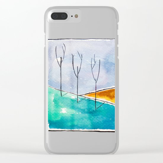 Only the Trees Clear iPhone Case