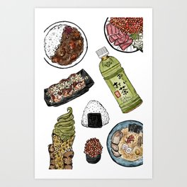 Favourite Japanese Foods 2 Art Print