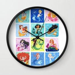 Mermaid Princesses Wall Clock
