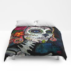 Sugar Skull Candy Comforters