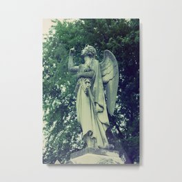 Angel on Expired Film Metal Print