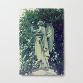 Angel on Expired Film Metal Print