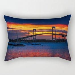 Sunset in Newport Rectangular Pillow