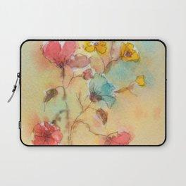 Vintage flowers (watercolor) Laptop Sleeve