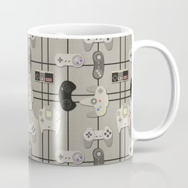 Paper Cut-Out Video Game Controllers Coffee Mug
