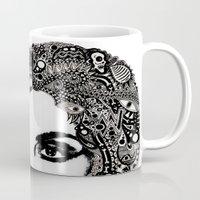 psych Mugs featuring psych hair by Blak Hand