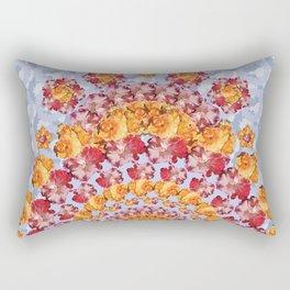 Floribunda Boho D in Periwinkle Rectangular Pillow