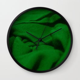 Green Velvet Dune Textile Folds Concept Photography Wall Clock
