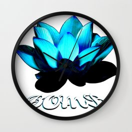 Lotus Flower Bomb Wall Clock