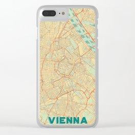 Vienna Map Retro Clear iPhone Case