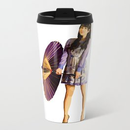 Purple Umbrella Metal Travel Mug