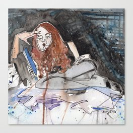 Sadist in Stockings Canvas Print