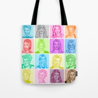 glee Tote Bags featuring Glee by ONEX8