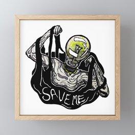 Save Me Framed Mini Art Print