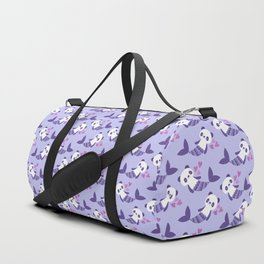 Cute purple merpandas Duffle Bag