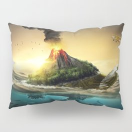 Fairytale Fable Sea Reptile Magma On Back Dreamy UHD Pillow Sham