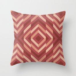 Broken geometric pattern (Shades of Terracotta) Throw Pillow