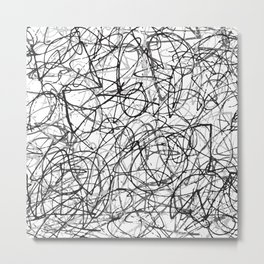 Scribbles Metal Print