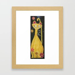 Cat's meow Framed Art Print