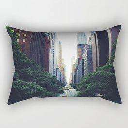 New York City Street Skyscapers Travel Wanderlust #tapestry Rectangular Pillow