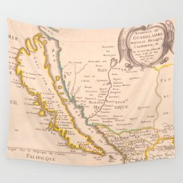 Vintage Map of California (1657) Wall Tapestry
