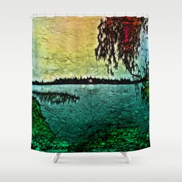 :: Lake View :: Shower Curtain