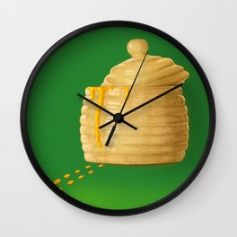 Dip Into The Honey Jar - Green Painting Wall Clock