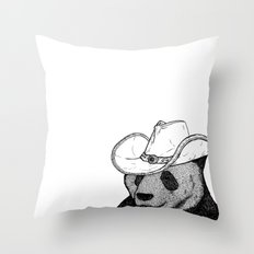 Cowboy Panda Throw Pillow