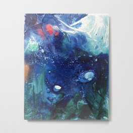 Bright Ocean Life, Tiny World Collection Metal Print