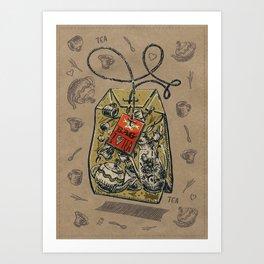Tea bag Art Print