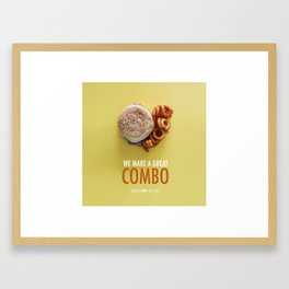 We Make a Great Combo Framed Art Print