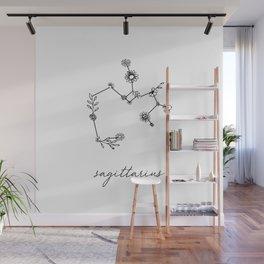 Sagittarius Floral Zodiac Constellation Wall Mural