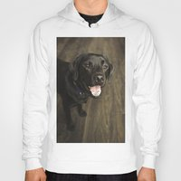 lab Hoodies featuring Black Lab by Every Dog Has a Story