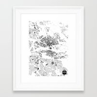 stockholm Framed Art Prints featuring STOCKHOLM by Maps Factory