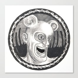 Rev. Splonk going insane Canvas Print