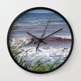 Waves Rolling up the Beach Wall Clock