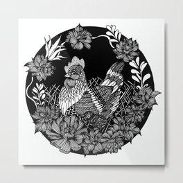 "Inktober, Day 5 ""Chicken"" #inktober #inktober2018 Metal Print"