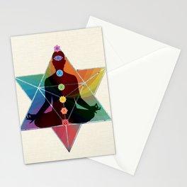 Sacred Geometry Merkaba Chakra Meditation Stationery Cards