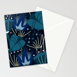 Magical blue flowers Stationery Cards