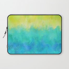 Sunflower and Ice Abstract Laptop Sleeve