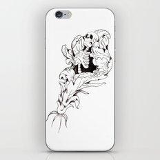 Skeleton Bloom iPhone & iPod Skin