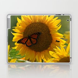 The butterfly the bee and the sunflower Laptop & iPad Skin