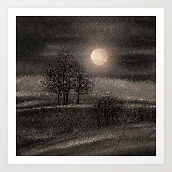 Calling The Moon III Art Print