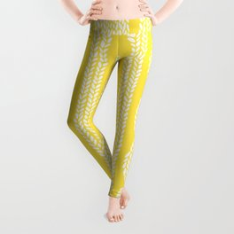 Cable Row Yellow Leggings