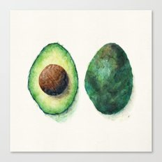 Avocado Split Canvas Print
