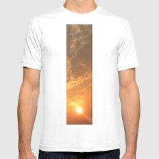 Sun in a corner White Mens Fitted Tee MEDIUM