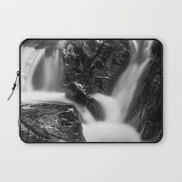 Shelving Rock Stream - Black & White Laptop Sleeve