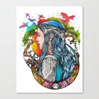 celtic Canvas Prints featuring Celtic elf by Raquel C. Hita - Sednae