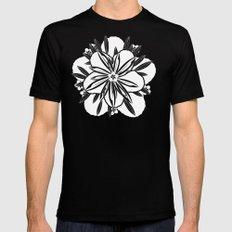 Murasaki flower Mens Fitted Tee Black MEDIUM